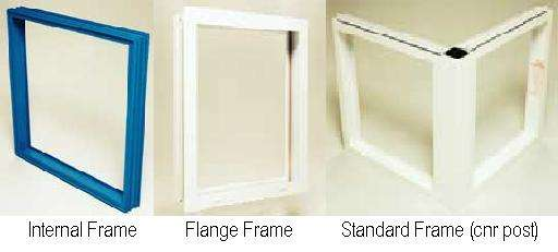 Aluminium frame glass block constructions for Glass block window frame