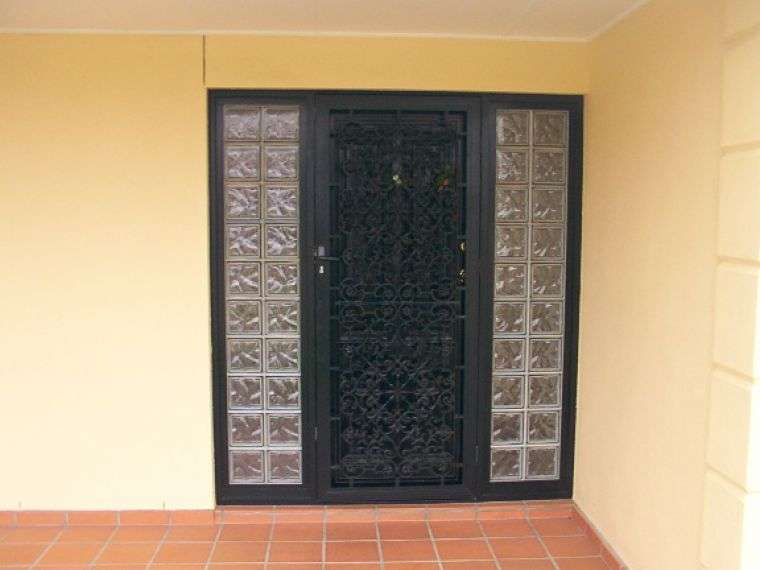 Door Sidelights Glass Block Constructions