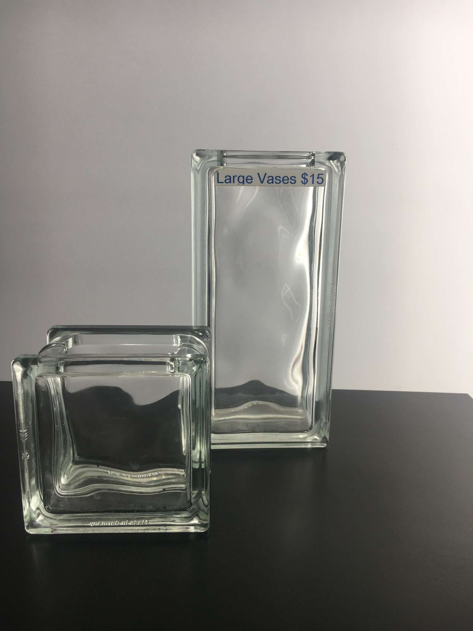 Craft glass blocks available now glass block constructions we also stock vases and a huge range of different size glass blocks reviewsmspy